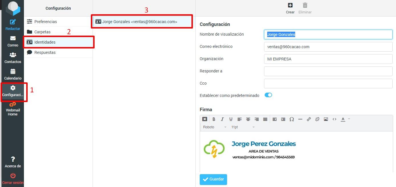 agregando firma a nuestro webmail correo corporativo