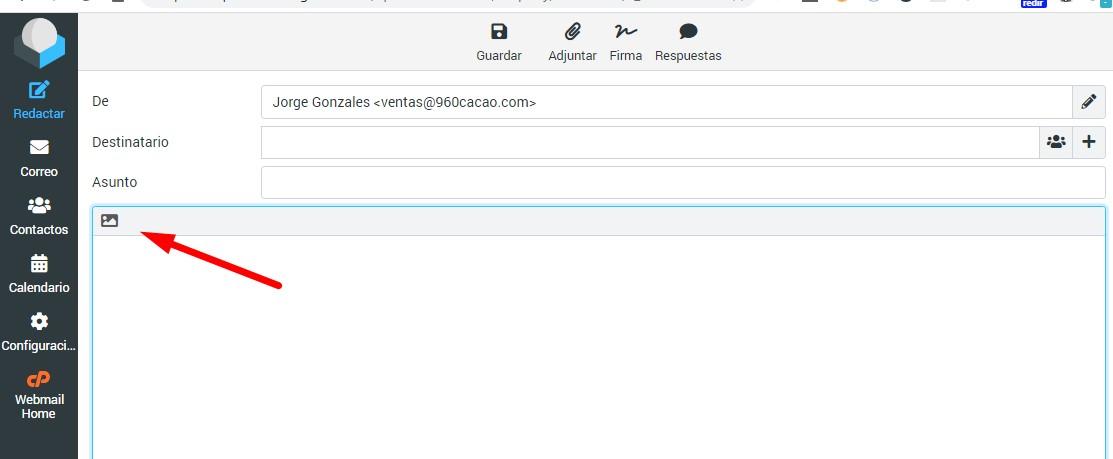 activar editor correo roundcube